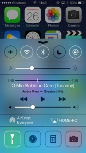 iOS 7 Control Center Preview