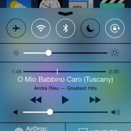 iOS 7 Control Center Preview