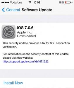 iOS 7.0.6 upgrade
