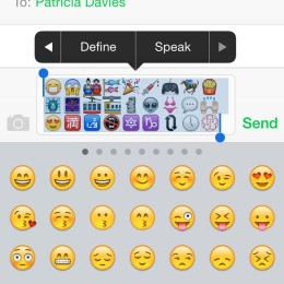 selected emoji emoticons