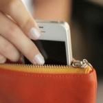 iphone in purse