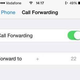 ios call forwarding menu