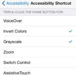ios grayscale shortcut