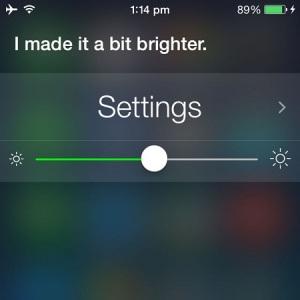 Siri adjusting iPhone brightness