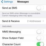 additional iMessage settings