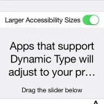 ios larger text setting
