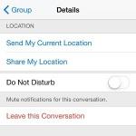 ios leave this conversation option