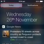 ios notification widgets screen