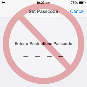 ios restrictions passcode