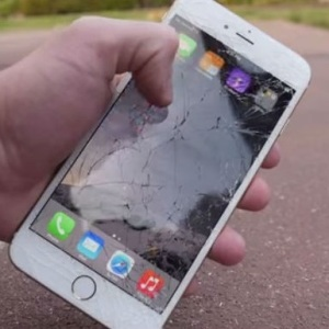 iphone 6 with cracked screen