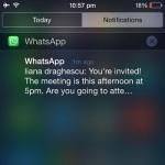 iphone message notification center