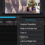 adding transitions to iphone movie