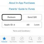 app store redeem button