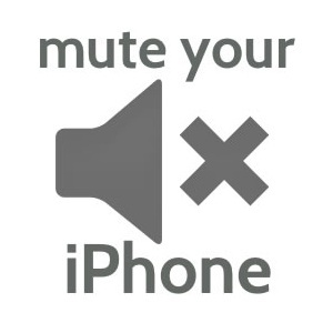 how to mute your iphone