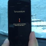 ios 8 freezing temperature warning bug