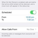 ios do not disturb settings menu