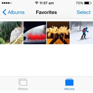 ios favorites album