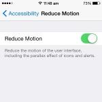 ios reduce motion setting
