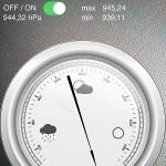 iphone barometer air pressure reading