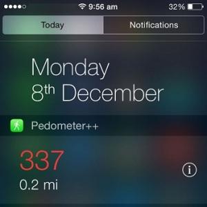 iphone step counter widget