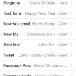 iphone using christmas and new year sounds