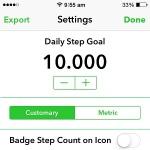 pedometer++ daily step goal setting