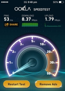 iphone 5s 3G cellular data speed test