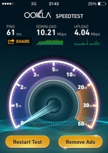 iphone 6 3G speed test