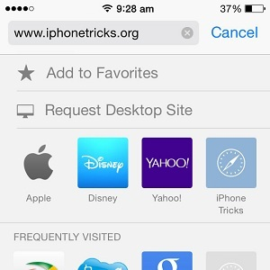 safari request desktop site trick