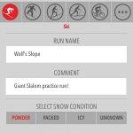 saving ski run info