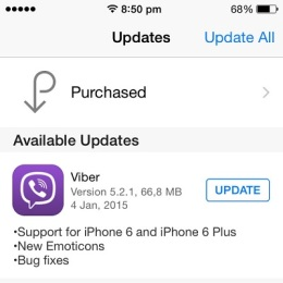 viber iphone 6 and 6 plus support