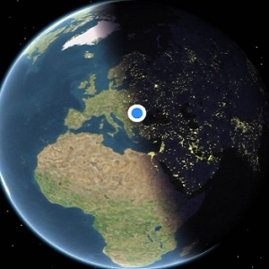 Apple Maps Real-Time Earth Positioning