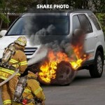 burning car prank