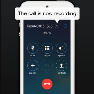 recording an outgoing iphone call