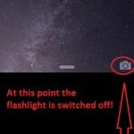 turning flashlight off from lock screen