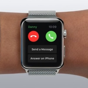 answer or decline apple watch call