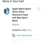 app store apple watch shopping cart