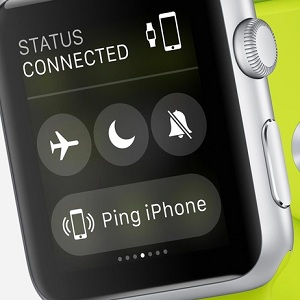apple watch ping iphone button