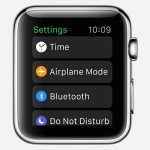 apple watch settings airplane mode view