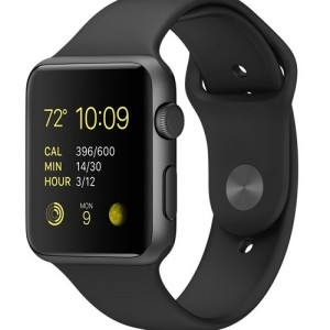 apple watch sport with black band