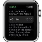 apple watch time ahead setting