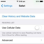 delete safari history and website data