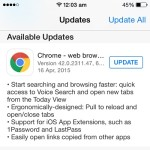 google chrome pull to reload update
