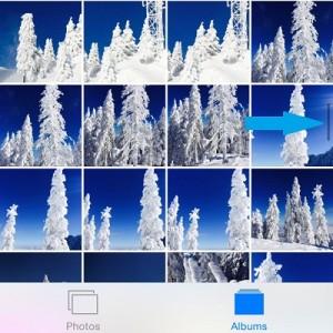 iphone photos scrollbar