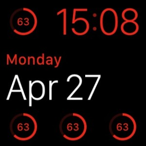 multiple battery percentage indicators on watch face