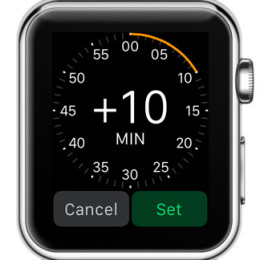 setting apple watch to show time in advance with 10 minutes