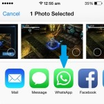 whatsapp ios photos share extension
