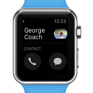 Apple Watch start call button