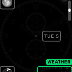 adding weather module to chronograph watch face