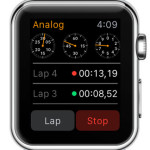 apple watch 3-dial analog stopwatch